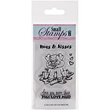 """Hot Off The Press Small Hugs & Kisses Acrylic Stamp Sheet, 2.5"""" by 5.5"""""""