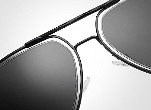 Gafas Gafas de con Sol Marca Gafas Retro polarizadas Sol Sol Pilot de de JCH Espejo para de diseñador Hombre Hombres Gafas Black de Sunglass qIXnRA