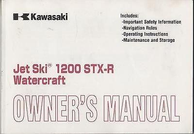 - 2003 KAWASAKI JET SKI 1200 STX-R WATERCRAFT P/N 99987-1119 OWNERS MANUAL (894)