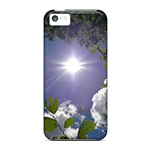 LJF phone case Iphone High Quality Tpu Case/ Sky Surrounded By Trees Clouds2 FubNgtl40APQJf Case Cover For Iphone 5c