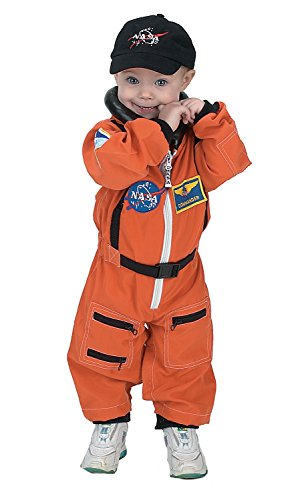 [Aeromax PERSONALIZED Jr. Astronaut Suit with Embroidered Cap and NASA patches, ORANGE, Size 18 Months] (Orange Astronaut Suit)