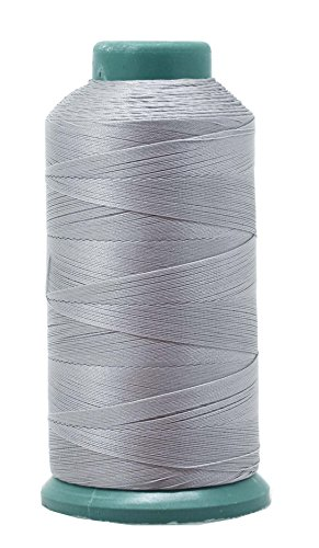 Mandala Crafts Bonded Nylon Thread for Sewing Leather, Upholstery, Jeans and Weaving Hair; Heavy-Duty; 1500 Yards Size 69 T70 (Gray)