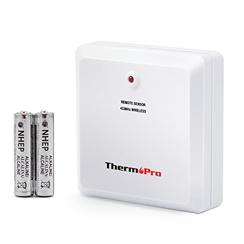 ThermoPro TPR60 Fitting Rainproof Transmitter for TP60/TP65 Thermometer Humidity Monitor, Battery included,(Accessory Only, Can NOT Be Used Alone) ()