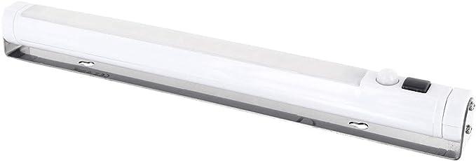 Barra de luz led con sensor de movimiento, marco de acero orientable 360°,
