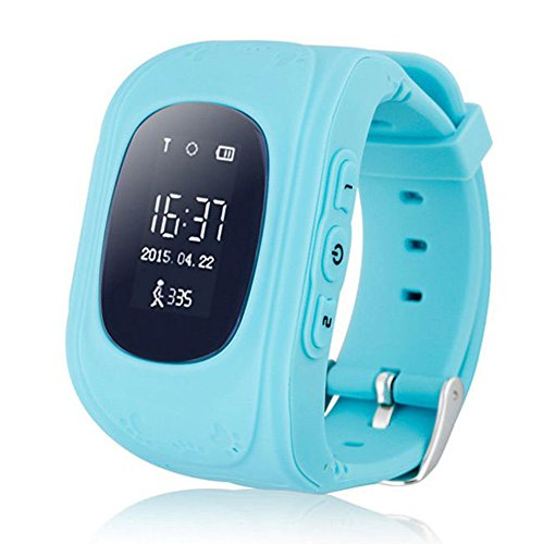 Auntwhale Children GPS Tracker Smartwatch Smart Watch for Kids Anti-Lost Sos Sim Card Watch Parent Control by Smartphone Location Tracker Watch Blue (Best Mobile Phone Location Tracker)