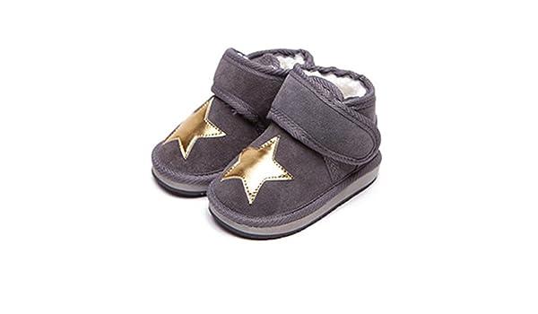 Gray Bimbo Bimba Star Ankle Boots with Faux Shearling