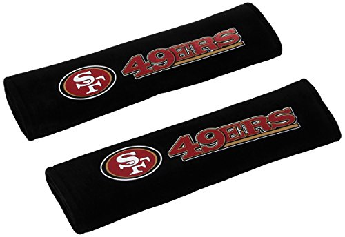 NFL San Francisco 49Ers Seat Belt Pad (Pack of 2) (Cheap Seat Covers For Cars)