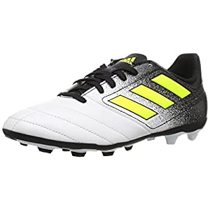 adidas Performance Boys' Ace 17.4 FxG J, White/Solar Yellow/Black, 3.5 Medium US Little Kid