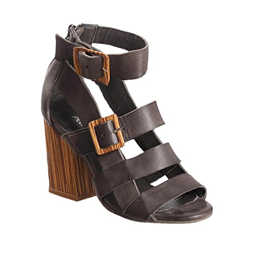 Antelope Women's 785 Grey Leather Buckles & Straps 40