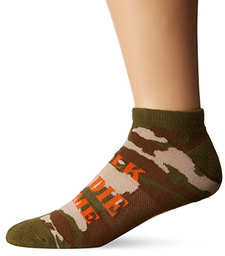 K. Bell Socks Men's Talk Birdie to Me No Show, Green, Sock Size: 10-13/Shoe Size:9-11