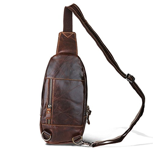 Daypack Outdoor Messenger Travel Gym Cycling Body Brown Retro Backpack Chest Jxth Mens Multipurpose Bag Shoulder Cross Sport pqfxECUw