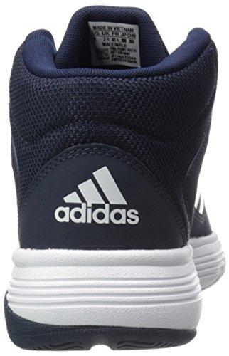 Adidas Performance Heren Cloudfoam Ilation Mid Basketbalschoen Collegiaal Marine / Wit / Wit