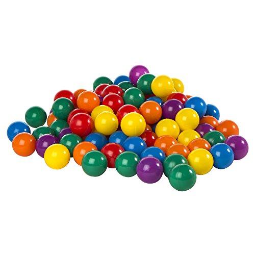 """Intex Fun Ballz - 100 Multi-Colored 3 1/8"""" Plastic Balls, for Ages 2+"""