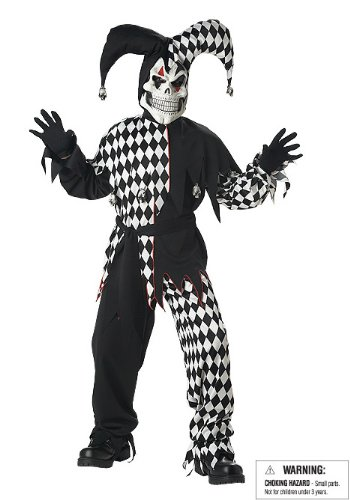 Evil Jester Child Costume, Size M = (Scary Costumes For Children)