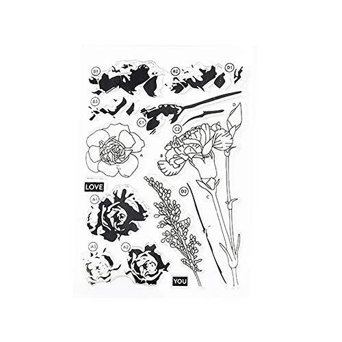 alignmentpai Flower Shape Metal Cutting Dies Silicone Stamp DIY Scrapbook Album Cards Tool Stamp -