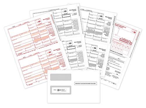 Forms Order 1099 (2018 1099-MISC Tax Forms Bundle (4-Part Set) with 1099 Envelopes - 10 Pack for Laser Printers)