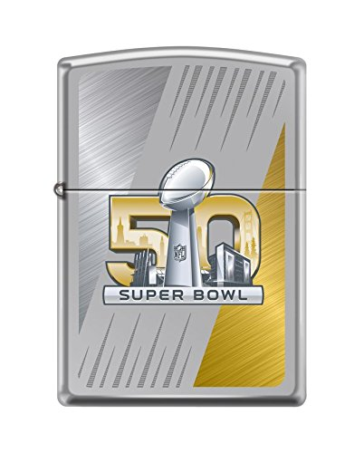 Zippo 50th Super Bowl Limited Edition Lighter. Limited to 1,750 pieces WORLDWIDE! ArmorTM High Polish Chrome