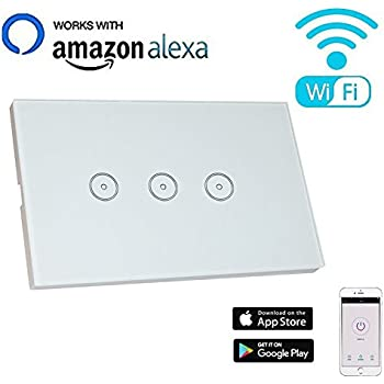 Smart Wifi Light Switch Compatible With Alexa Echo
