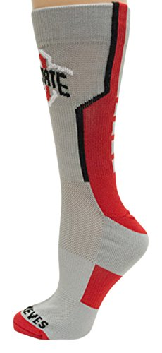 Donegal Bay NCAA Ohio State Buckeyes Unisex Ohio State Gray Sport Sockohio State Gray Sport Sock, Red, One Size by Donegal Bay