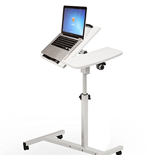 Ankola Laptop Table, Laptop Cart. Portable Vented Laptop Aluminum Computer Desk Portable Bed Tray Book Stand Computer Mobile Laptop Cart with Side Table, Fast Shiping From Dayton,New Jersey by Ankola