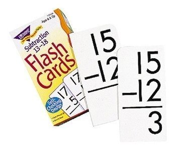 Skill Drill Flash Cards: Subtraction 13-18 by Trend Enterpri