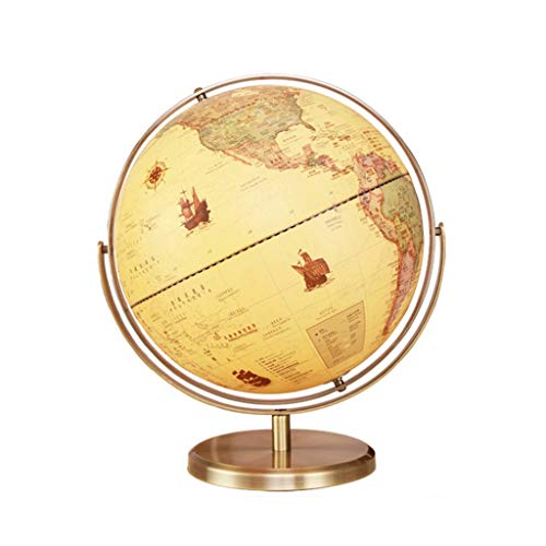 TMY Office Globe 9 Color Universal Rotating Globe Metal Imitation Retro HD Student Teaching Children Birthday Gift 32cm (Size : 3243cm) ()