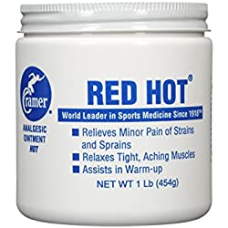 Cramer Red Hot Ointment for Muscle & Joint Pain Relief & Sore Muscles, Penetrating Warming Heat Therapy Cream for Warm-Up, Recovery, Athletes, Athletic Trainers, Arthritis, Tendonitis