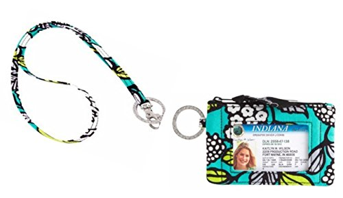 Vera Bradley Zip Id Case and Lanyard in Island Blooms