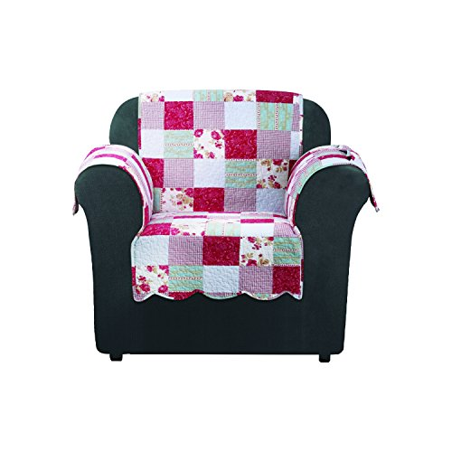SureFit SF46470 Heirloom Quilted Chair Pet Throw/Slipcover with Arms, Cottage Patchwork