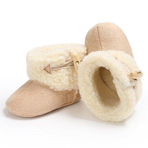 OverDose Baby Mädchen Warmhalten Weiche Sohle Schneestiefel Weiche Krippe Schuhe Anti-Rutsch Kleinkind Stiefel A-Beige
