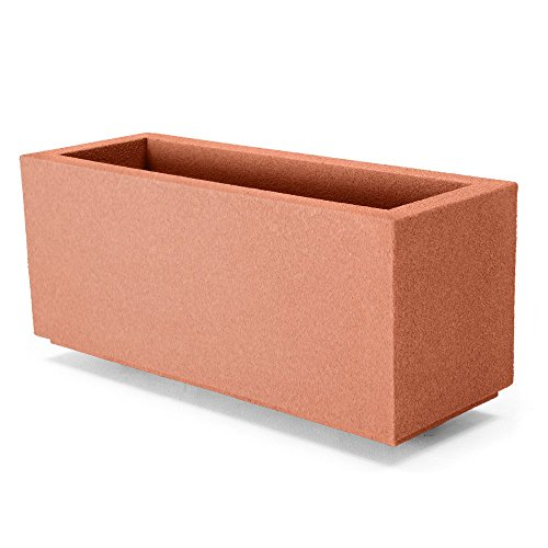 Poly-Stone Milan Tall Trough 4-ft. Outdoor Planter