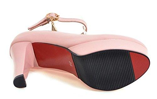 Easemax Femmes Plate-forme Élégante Talons Hauts Pompes Chaussures Rose