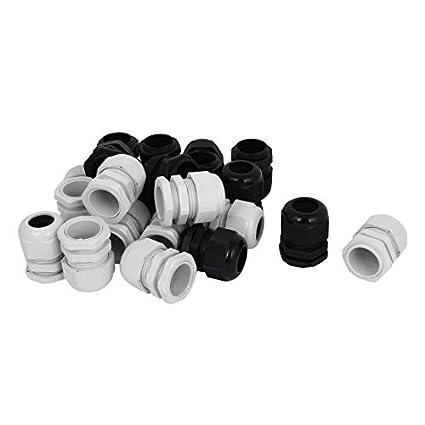 eDealMax 22 piezas DE 26 mm conector de compresión impermeable 16-21mm Las glándulas de