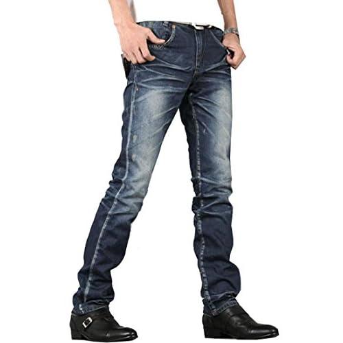 67c65fb1f MLG Mens Modern Fit Slim-Fit Straight-Leg Jean Trousers low-cost ...