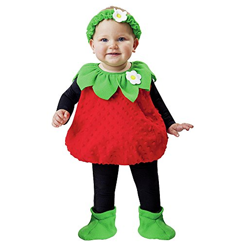 [Totally Ghoul Strawberry Vest Costume, Size: Toddler, 1-2 Years] (Strawberry Costume)