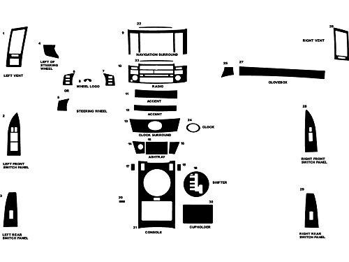 Fx45 Dash (Rdash Dash Kit Decal Trim for Infiniti FX35 / FX45 2003-2005 - Carbon Fiber 4D (Black))