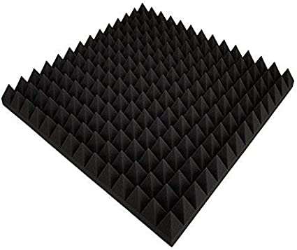 green white // anthracite // purple // orange // green // red available in many colours acoustic foam Convoluted foam insulation 49/x 49/x 6 cm pyramid profiled acoustic foam