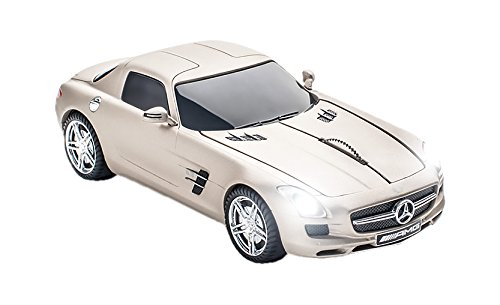 Click Car CCM660264 Mercedes-Benz SLS AMG Wireless Optical Mouse, Pearl Beige Matte