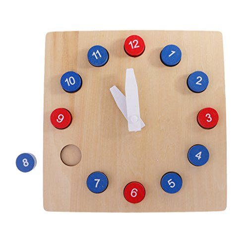 Fityle Kids Wooden Time Teaching Cloth Early Learning Developmental Toy by Fityle (Image #6)