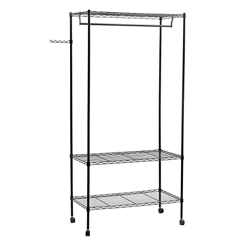 garment rack with shelf - 3