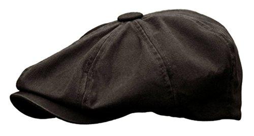 n Newsboy Gatsby Ivy Cap Golf Cabbie Driving Hat (Medium, Black) ()