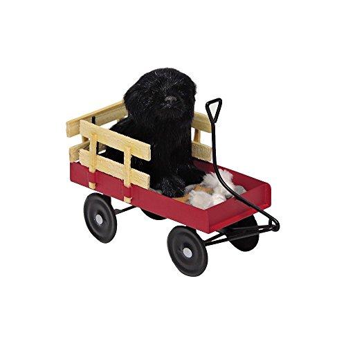 The Carolers Byers' Choice Black Dog in - Dog Sitting Charm