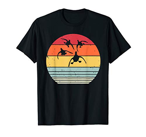 Duck Hunting Retro Vintage Sunset Tshirt