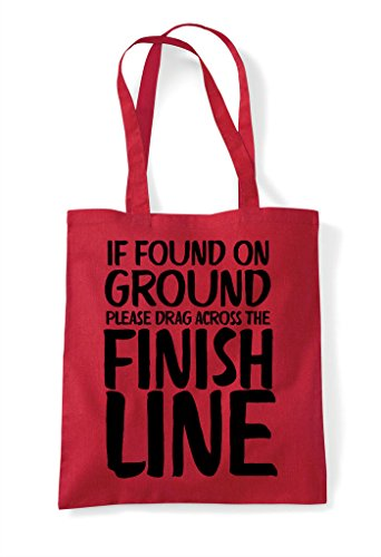 Shopper Across Ground Tote Bag Please Found Finish The If On Line Red Drag xXPqwxp6