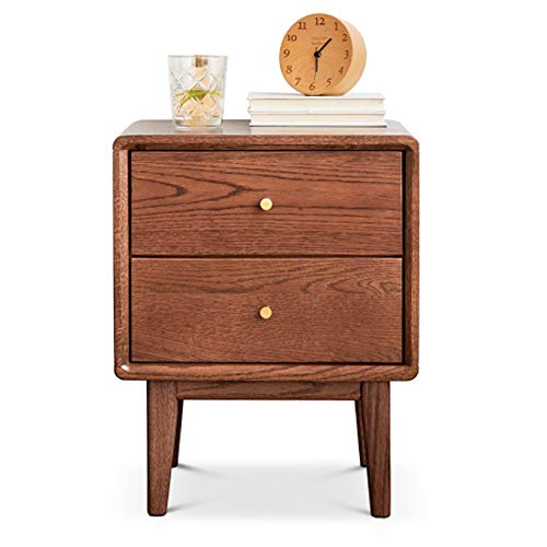 (Ping Bu Qing Yun Bedside Table, Wooden Simple Two-Bedroom Bedroom Bedside Storage Cabinet, Suitable for: Living Room/Bedroom/Office, 2 Colors to Choose from Bedside Table (Color : B))