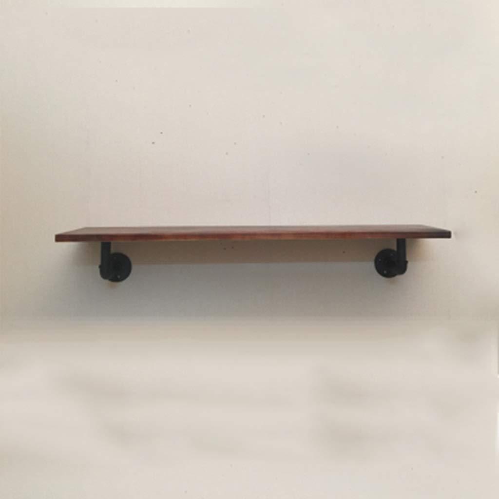 JJ_Industrial ワード棚ラック無垢材鍛造鉄パイプラックブラケット壁棚産業風リビングルーム仕切り (サイズ さいず : D) B07RL4XJWD  D