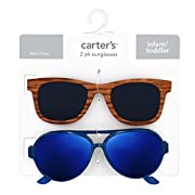 Carter's Baby Boy's 100% Uva-uvb Protected Baby Sunglasses (boy) Accessory, pink faux bamboo/navy, 0-36 Months