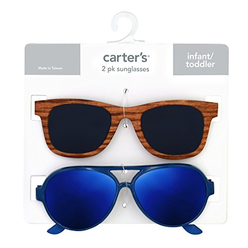 Carter's Baby Boy's 100% Uva-uvb Protected Baby Sunglasses (boy) Accessory, pink faux bamboo/navy, 0-36 - Sunglasses Carter's