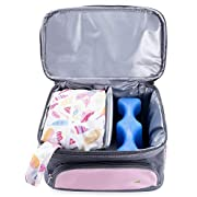 Pebble & Pear Breastmilk Storage Cooler Bag with Ice Pack and Baby Wet Bag