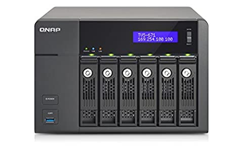 QNAP TVS-671-i5-8G-US 6-Bay Intel Core i5 3.0GHz Quad Core, 8GB RAM, 4LAN, 10G-ready (TVS-671-i5-8G-US)